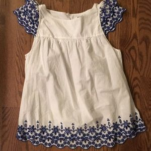 Tops - Madewell embroidered top size 2